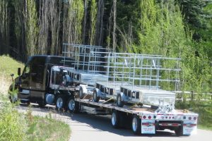 Canoe trailers being shipped out 2 different trailer models