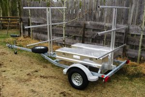 6 Place Sport Trailer for Canoes with storage